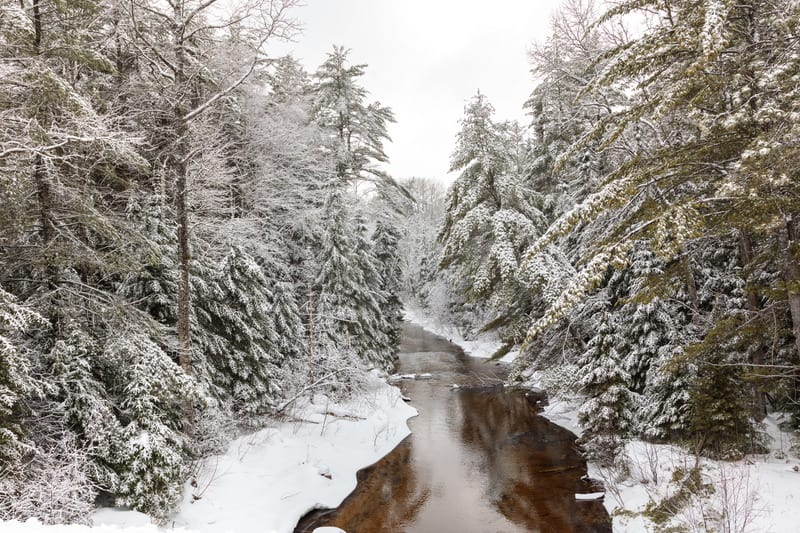 this is a picture of East Jordan Michigan in the winter