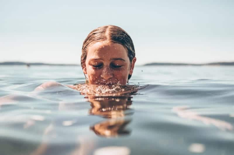 picture of a woman swimming