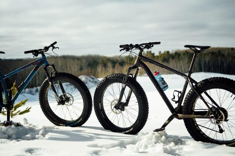 picture of fat tire snow bike