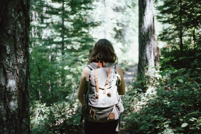 picture of a woman hiking