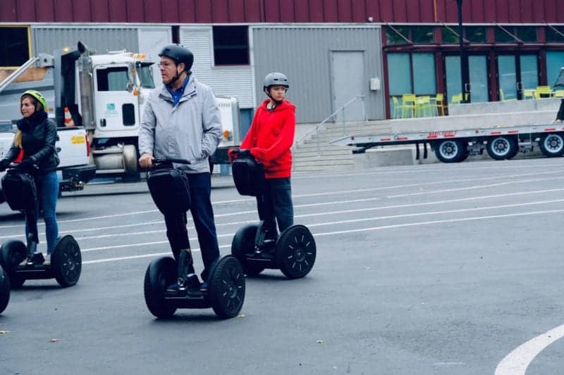 picture of someone on a segway