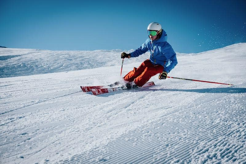 picture of someone skiing