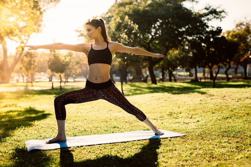 yoga is a popular summer activity